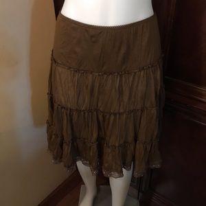 🆕 Finesse Brown Midi Skirt-Medium